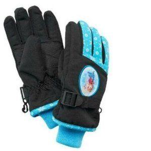 Girls Disney Frozen Anna Elsa Blue Winter Gloves